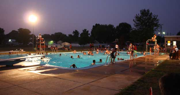 Strasburg Pool Lancaster PA Night Swim